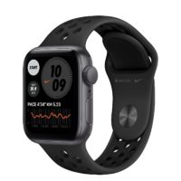 Apple Watch Nike SE GPS mm Space Gray Aluminium Case with Anthracite Black Nike Sport Band Regular MYYFNF A