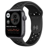 Apple Watch Nike SE GPS mm Space Gray Aluminium Case with Anthracite Black Nike Sport Band Regular MYYKNF A