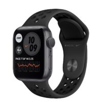Apple Watch Nike Series  GPS mm Space Gray Aluminium Case with Anthracite Black Nike Sport Band Regular MXNF A