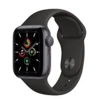 Apple Watch SE GPS mm Space Gray Aluminium Case with Black Sport Band Regular MYDPNF A