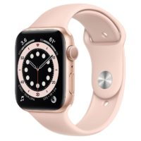 Apple Watch SE GPS mm Gold Aluminium Case with Pink Sand Sport Band Regular MYDRNF A