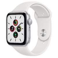 Apple Watch SE GPS mm Silver Aluminium Case with White Sport Band Regular MYDQNF A
