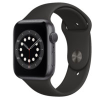 Apple Watch Series  GPS mm Space Gray Aluminium Case with Black Sport Band Regular MHNF A